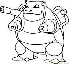 Small Picture Blastoise Pokemon GO Coloring Page Free Pokmon GO Coloring