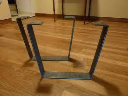 Tapered Coffee Table Legs Metal Coffee Table Legs 25 In Steel Flat Bar Trapezoid