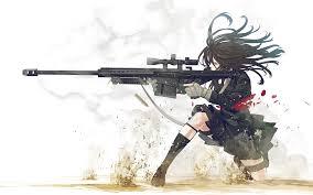 anime gun wallpaper 1920x1080. Interesting Anime Girl With A Sniper Rifle Wallpaper 2344  Character Design  Inside Anime Gun 1920x1080 T