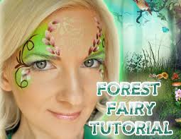 forest fairy face painting makeup tutorial