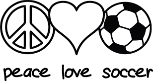Soccer Coloring Pages Peace Love Soccer Coloringstar