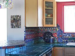 Blue Tiles For Kitchen Tile Kitchen Countertops Kitchen Black Gas Range And Hood Navy