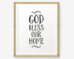 god bless our home home decor housewarming gift welcome sign christian gift scripture art print on allah bless this home wall art with items similar to god bless our home scripture art print christian