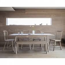 alpine extendable dining table solid oak wood natural 150cm
