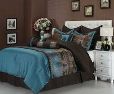 teal and brown bedroom. Simple Brown Nice Rustic Cabin Style Blue And Brown Bedding  Comforter  Set Teal BedspreadTeal SetsBedroom  Inside And Brown Bedroom G