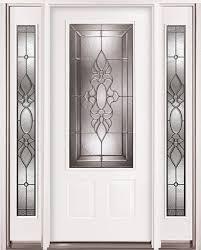 3 4 lite steel prehung door unit with sidelites 73