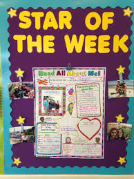 Star Student Chart Star Of The Week Bulletin Board Display Each Week A New