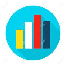 Data Chart Icon Graph Chart Icon Vector Illustration Flat Style Circle Item