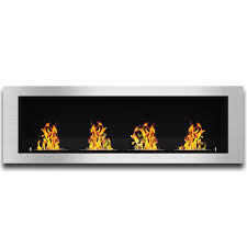 elite flame luxe ventless bio ethanol wall mounted fireplace
