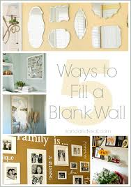 5 ways to fill a blank wall sand and