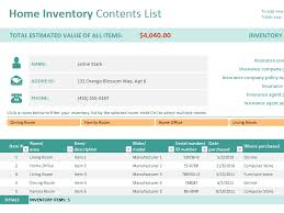 ms excel inventory template download excel home inventory template