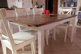 make your own country kitchen table with a ikea table this rocks
