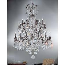 classic lighting versailles crystal chandelier antique bronze 9030abs