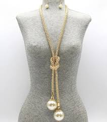 second hand love pearl necklace gold