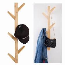 Coat Rack Hanging 100 Branch Tree Wall Mounted Bamboo Coat Rack Hanger Hat Bag Hook 48