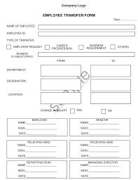 Transfer Transfer Form Form Employee Employee Transfer Employee Form