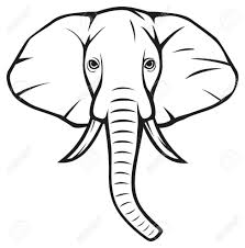 Coloring Pages : Graceful Elephant Head Drawing Side View African ...