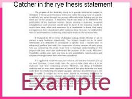 catcher in the rye thesis statement research paper service catcher in the rye thesis statement