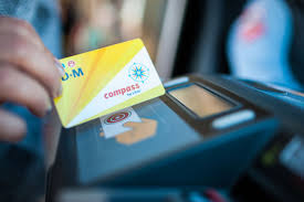 All of our passes—from the monthly pass down to the day pass—are on compass card, a smart card that you tap to board our buses and trolleys. Compass Card
