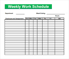 blank work schedule work schedule template free work schedule templates for word and