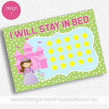 I Will Stay In Bed Reward Chart Sticker Chart Toddler