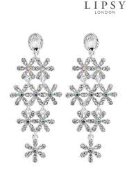 lipsy crsytal daisy chandelier earrings
