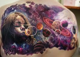 фото тату космос татуировок вселенная галактика Portaltattooru