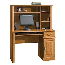 com sauder orchard hills computer desk with hutch ina oak kitchen dining