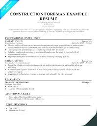 Sample Of Construction Resume Viragoemotion Com