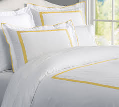morgan 400 thread count organic duvet cover sham yellow pottery barn