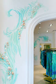 Hand painted wall detail at our newest Lilly Pulitzer store at Coconut  Point in Estero,