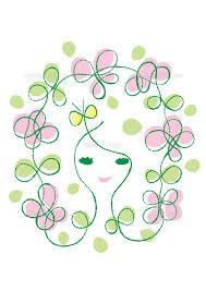 「花と女性イラスト無料」の画像検索結果