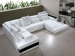 diamond white leather sectional sofa with lights