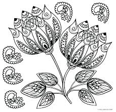 Easy Flower Coloring Pages Flower Coloring Pages Free Printable For