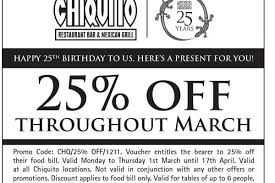 chiquitos vouchers free starter