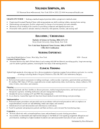 Sample Resume For New Graduate Registered Nurse Valid Nursing Resume