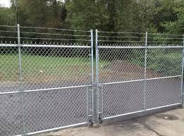 top chain link fence gate