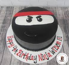 Ninja cake! A round buttercream cake with ninja design for a children's  party. | Ninja birthday, Ninja birthday cake, Ninja birthday parties