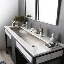 undermount trough bathroom sink with two faucets vanity bowl double awesome and also 18