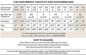 Chicos Chart Size For Women In 2019 Clothing Size Chart