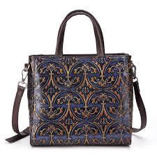women tote messenger cross bags handbag las purse vintage designer genuine embossed leather shoulder top