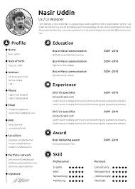 Simple Resume Template 2018 Best Simple Free Template Resume 48 Resume Format 48 Toreto Co Top