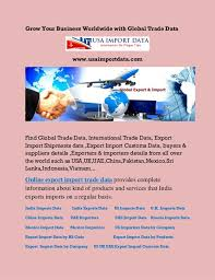 Imports Business Export Import Data Import Export Customs Data Indian
