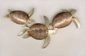 on tropical ocean sea turtle metal wall art decor with kemps ridley sea turtle sea turtle triple mount pinterest turtle