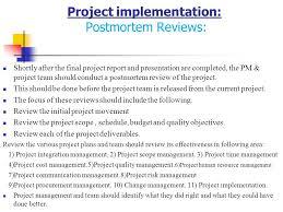 Post Mortem Project Review Under Fontanacountryinn Com