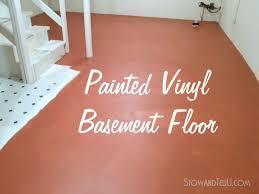 how to painted vinyl floor basement