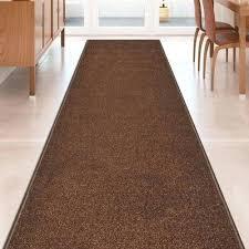 custom size brown stair hallway runner rug rubber back non skid hall rugs australia carpet oriental hall runner rug