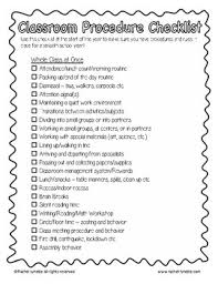 Classroom Routine Chart Classroom Procedures And Routines Minds In Bloom