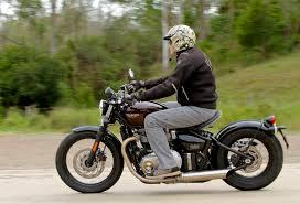 triumph bonneville bobber a styling hit motorbike writer
