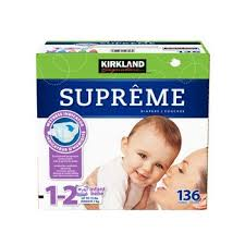 Costco Kirkland Signature Supreme Diapers Size 1 2